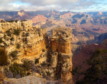 mesas: Grand Canyon National Park in the morning Stock Photo
