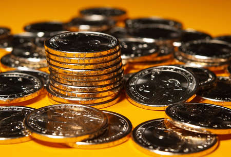 US government just issued the new presidential dollar coins Stock Photo - 876179