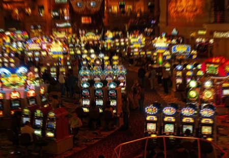 The slot machines in Las Vegas casino
