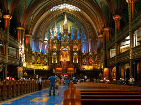 holey: The inside the Cathedral du Notre Dame in Montreal, Canada.