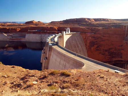 Glen Canyon Dam and Lake Powell in Arizona photo