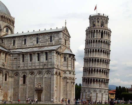 Pisa lean tower and church in Italy Imagens - 882743