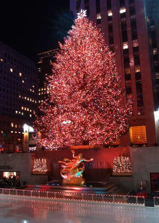 Christmas tree lighting at Rockefeller Center in NYC