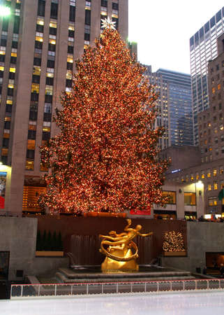 christmas tree lighting at rockefeller center in nyc stock photo 882796