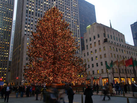 christmas tree lighting at rockefeller center in nyc stock photo 882797