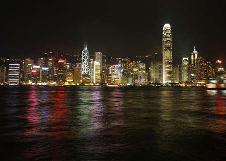 skylines: Hongkong night skylines Stock Photo
