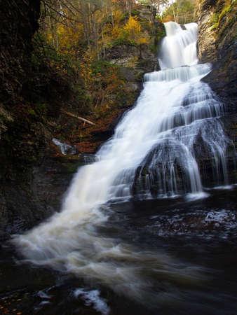 pa: dingman falls in PA state park Stock Photo