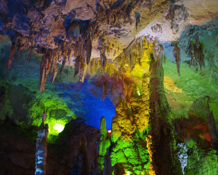 yunnan: Cave interior with light in yunnan Chnia