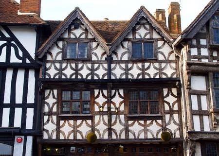 shakespearean: The Stratford shakespeares birthplace - England Stock Photo