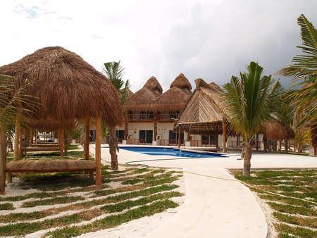 A beach resort in Cancun Mexico
