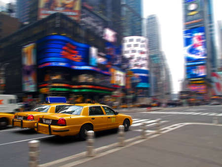 times square: taxi in times square in New York City