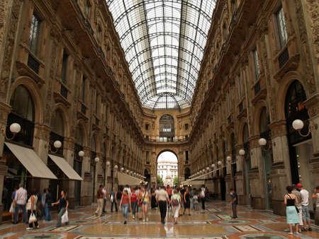 at milan: Galleria Vittorio Emanuelle in Milan Italy  Stock Photo