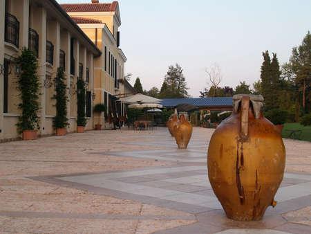the merchant of venice: A vila in wineyard near venice, italy