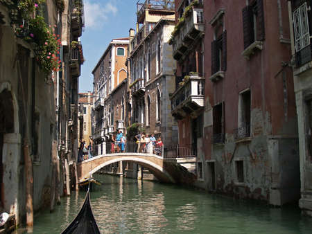 Water way along the streets of Venice, italy Stock Photo - 907757