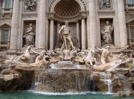 The Fontana di Trevi in Rome, Italy.