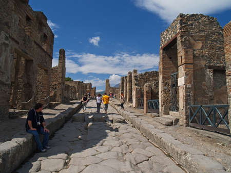 Pompei, ruins from the vulcano eruption, in Naples Italy  photo