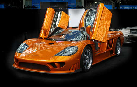 automobile dealership: A sport car displayed at the International Auto Show - 2007 in NYC