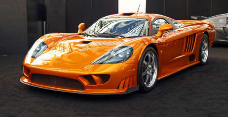 Une voiture de sport affichée au Salon international de l'auto - 2007 in NYC Banque d'images - 925338