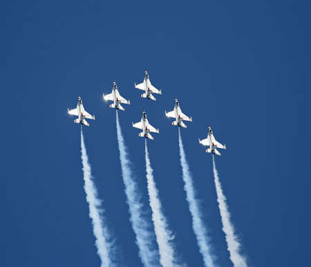 A fighter formation at a air show