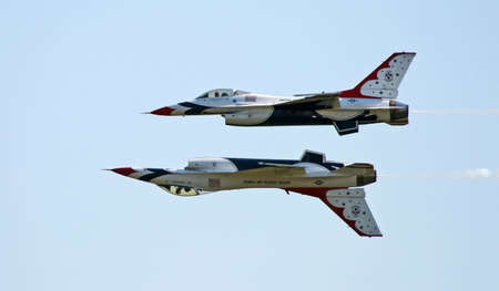 elite: A fighter formation at a air show