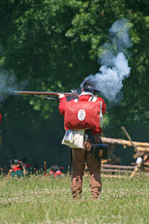 The enactment - The Battle of Monmouth in New Jersey photo