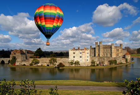 The leeds castle in England Stock Photo