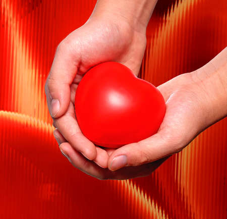 red blood cell: Loving and caring - a conceptual expression