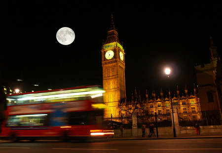 big: The Big Ben at night in London UK Stock Photo