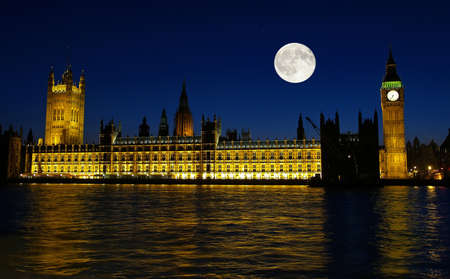 The Big Ben at night in London UK Stock Photo - 1657674