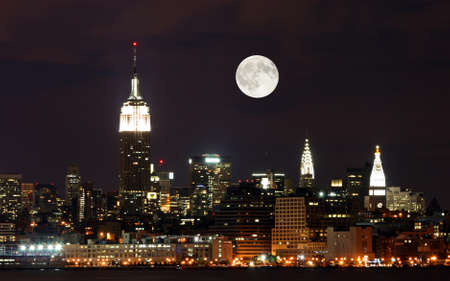 moon  metropolis: The New York City skyline from the Liberty State Park