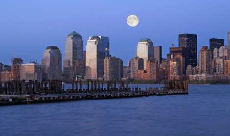 The New York City Skyline at night photo