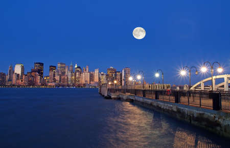 The New York City Skyline at night photo
