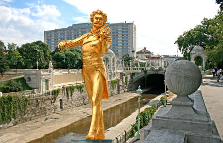 The Statue of Johann Strauss in stadtpark in Vienna, Austria Stock Photo - 1936162