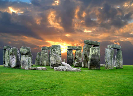 stonehenge: The Stonehenge in UK, it is still a mystery  Stock Photo