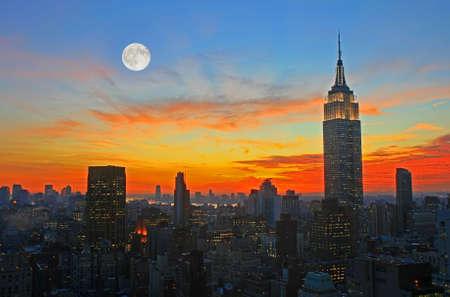 midtown: New York City midtown skyline at dark