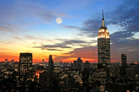 New York City midtown skyline at dark Stock Photo - 2167528