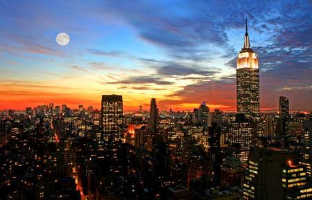 New York City midtown skyline at dark Stock Photo - 2167530