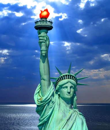 ニューヨークの自由の女神 写真素材