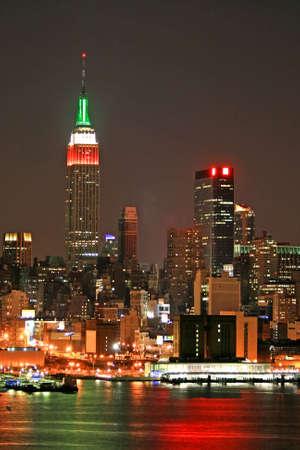 Manhattan Skyline at  Eve, New York City