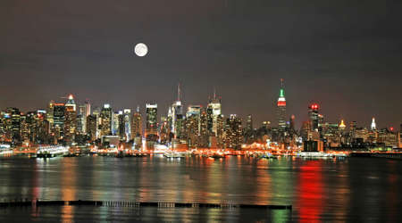 Manhattan Skyline at  Eve, New York City  Imagens