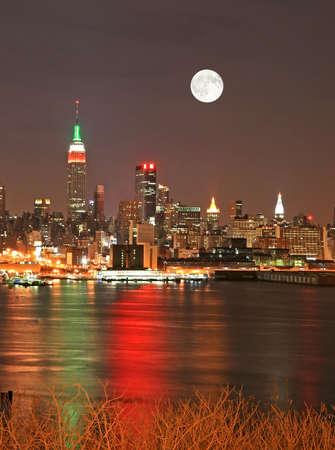 Manhattan Skyline at  Eve, New York City  photo
