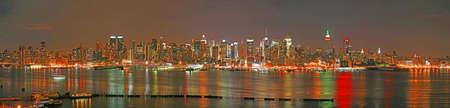 The panorama view of Manhattan skyline at  Eve, New York City  photo