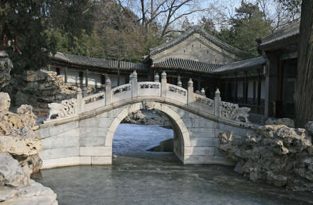 The top tourist spot - Bei-Hai (North-Lake) Park in the center of Beijing  photo