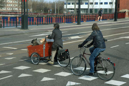 Some street scene in the City of Amsterdam Holland  photo