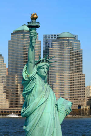 The Lower Manhattan Skyline viewed from Liberty Park New Jersey Stock fotó