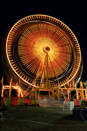 loopable: The beautiful light trails at night in a county carnival in New Jersey