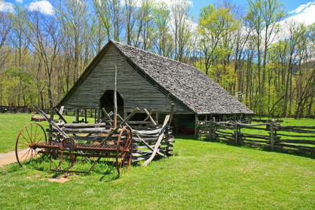 great smoky national park: The Indian village in the Great Smoky Mountain National Park Stock Photo