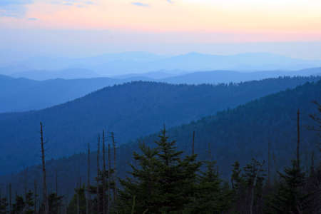 The Great Smoky Mountain National Park at sunset