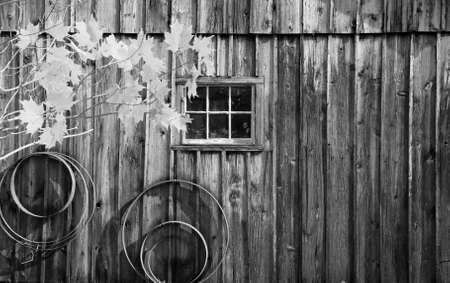 barn black and white: Historic Millbrook Village in Delaware water gap recreation area