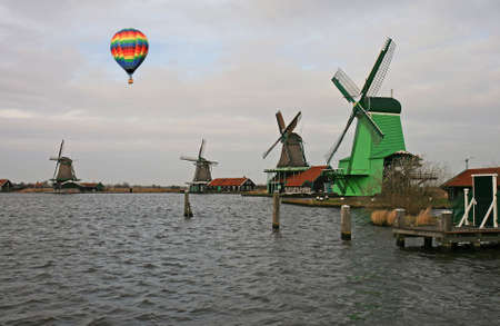 The windmill museum in the Amsterdam Holland  photo